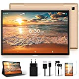 Tablet 10 Zoll mit 5G WiFi + Dual 4G LTE, Android 10 Original YESTEL T5 Ultraschnelles Tablets, 1920 * 1200 IPS | Face ID | Octa-Core-Prozessor | OTG | Bluetooth | 64 GB, 128 GB Erweiterung, Roségold